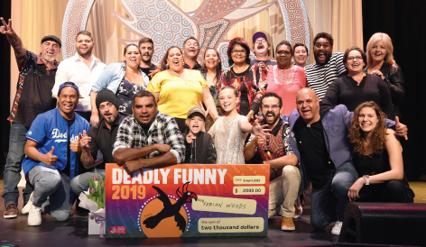 Fabian Woods is our 2019 Deadly Funny champion!